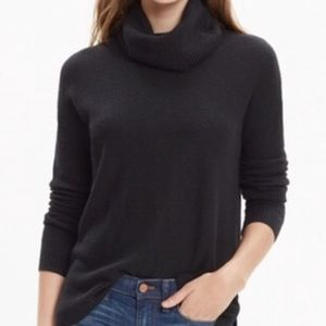 Madewell Waffle Knit Turtleneck Sweater Black M